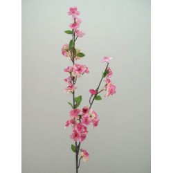 Artificial Cherry Blossom Branch Mid Pink - B019