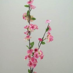 Artificial Cherry Blossom Branch Mid Pink - B019 B3