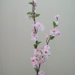Artificial Cherry Blossom Branch Pale Pink - B018 B3