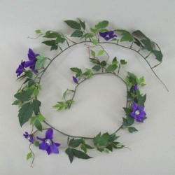 Artificial Clematis Garland Blue Purple - C094 B4