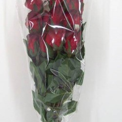 Silk Roses Bouquet Red - R010