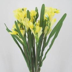 Silk Freesias Bunch Yellow - F004 C4