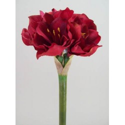 King Artificial Amaryllis Red - A030 B2