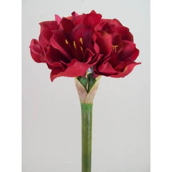 King Artificial Amaryllis Red - A030 B2