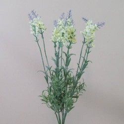Artificial Lavender Plant Cream with Lavender Tips - L100 I3