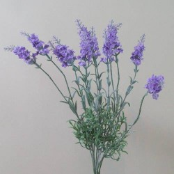 Artificial Lavender Plant Lavender Purple - L101 I3