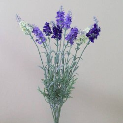 Artificial Lavender Plant Mixed Purple and Cream - L099 I2
