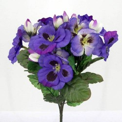 Purple Silk Pansies - P004 K3