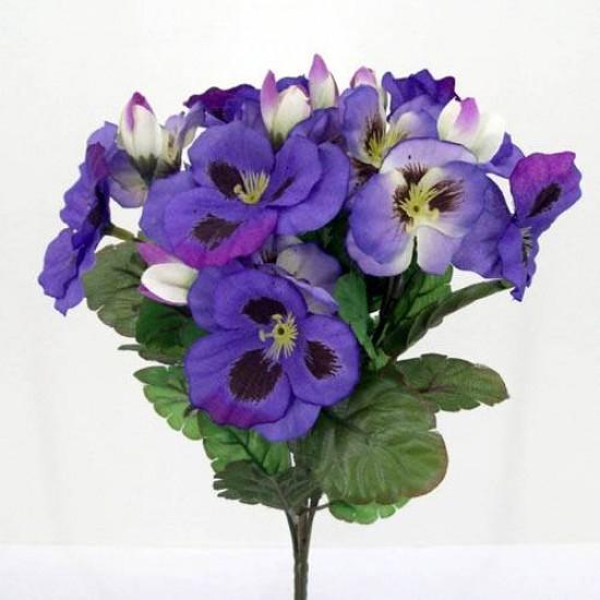 Purple Silk Pansies - P004 K3
