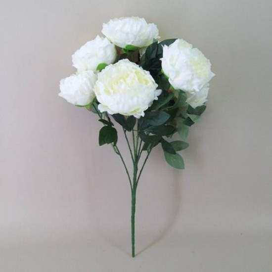 Bunch of Artificial Peony Flowers Cream - P104 L4