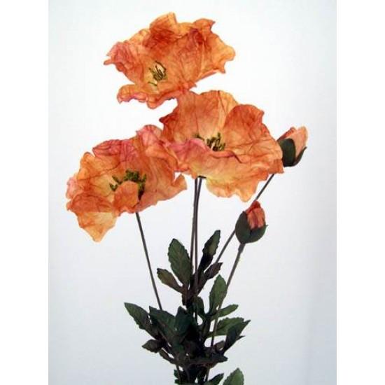 Silk Poppies Amber - P003 K3