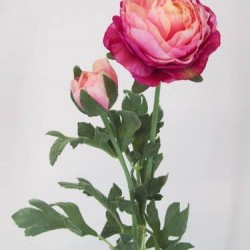 Artificial Ranunculus Pink Peach - R042