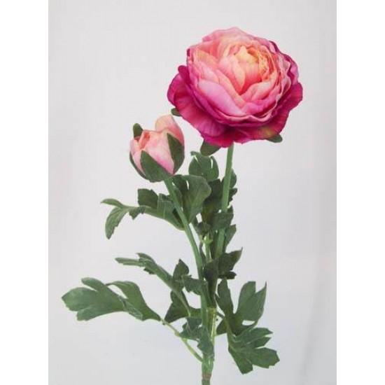 Artificial Ranunculus Pink Peach - R042 O2