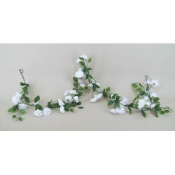 Artificial Roses Garland Small Ivory Roses - R007b P4