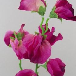 Artificial Sweet Peas Stem Hot Pink - S066 Q3