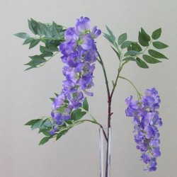 Artificial Wisteria Two Purple Flowers - W023A S1