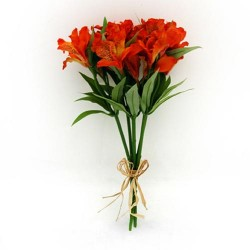 Silk Alstroemeria Bundle Orange - A059 A2