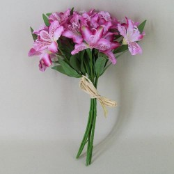 Silk Alstroemeria Bundle Pink - A058 B2