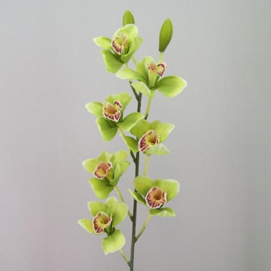 Artificial Cymbidium Orchid Lime Green - O076