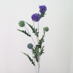 Artificial Echinops Thistle Purple - T011 R3