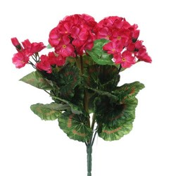 Artificial Geranium Plant Hot Pink - G110