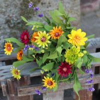 Artificial Meadow Flowers Bouquet Summer Brights - MF001-234