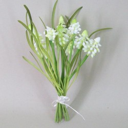 Artificial Muscari | Grape Hyacinth White - M003 KK3
