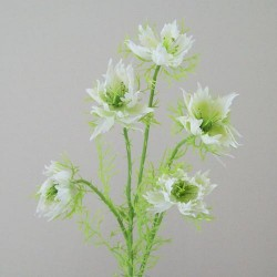 Artificial Nigella Love in the Mist White - N009 J2