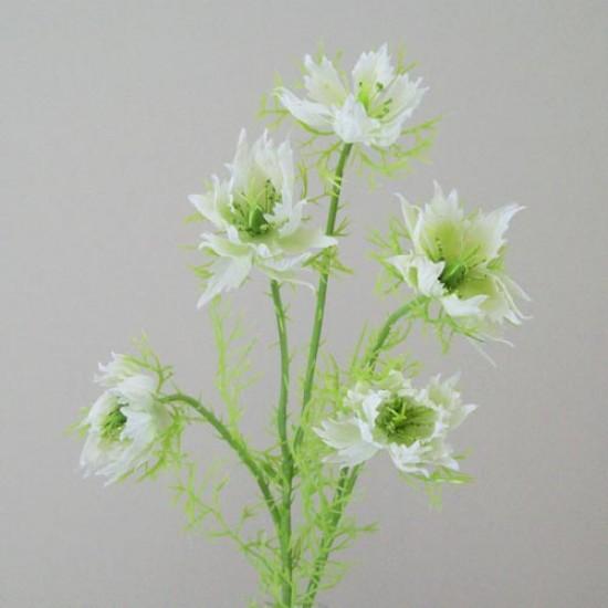 Artificial Nigella Love in the Mist White - N009