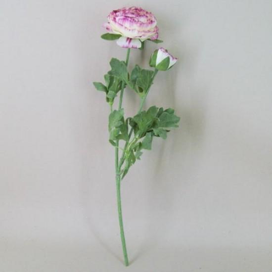 Artificial Ranunculus Flowers Cream and Dark Pink - R042b O2