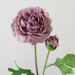 Artificial Ranunculus Vintage Purple - R144 O3