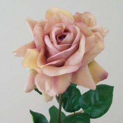 Artificial Tea Rose Vintage Apricot - R279 Q3