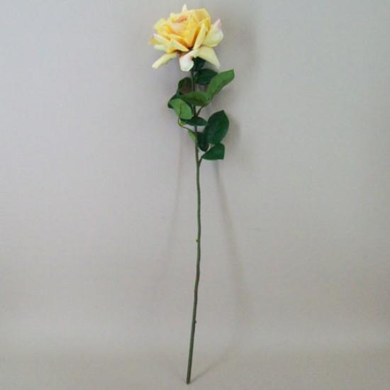 Artificial Tea Rose Vintage Lemon - R277 BX11