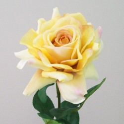 Artificial Tea Rose Vintage Lemon - R277 BX11