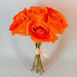 Artificial Roses Bunch Orange - R139 L1