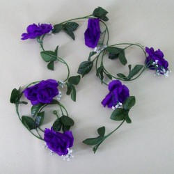 Artificial Roses Garland Carnival Purple - R226 Q4