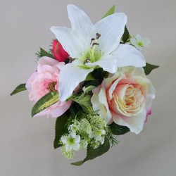 Artificial Lily and Roses Posy - L109 BX8