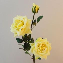 Artificial Roses Spray Yellow Velvet - R538 M3