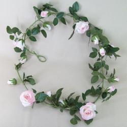 Artificial Silk Rose Garland Pink - R401 AA4