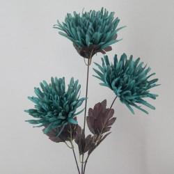 Artificial Spider Chrysanthemums Teal - S077 BX1