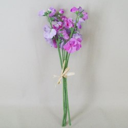 Artificial Sweet Peas Posy Lavender - S081 GG3