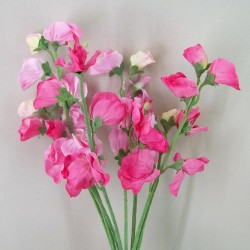 Artificial Sweet Peas Posy Pink - S080