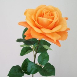 Artificial Tea Rose Orange - R402 Q4