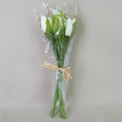 Artificial Tulips Bunch Cream - T033 GG1