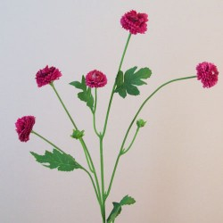 Artificial Button Asters Hot Pink - A112 B2