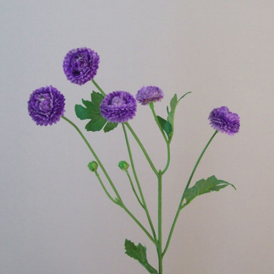 Artificial Button Asters Purple - A111 B2