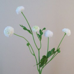 Artificial Button Asters White - A115