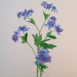 Artificial Astrantia Blue Purple Flowers - A107 A2
