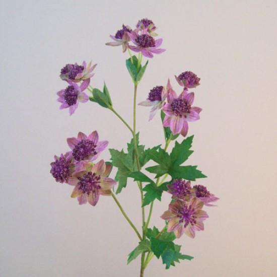 Artificial Astrantia Pink Purple Flowers - A104
