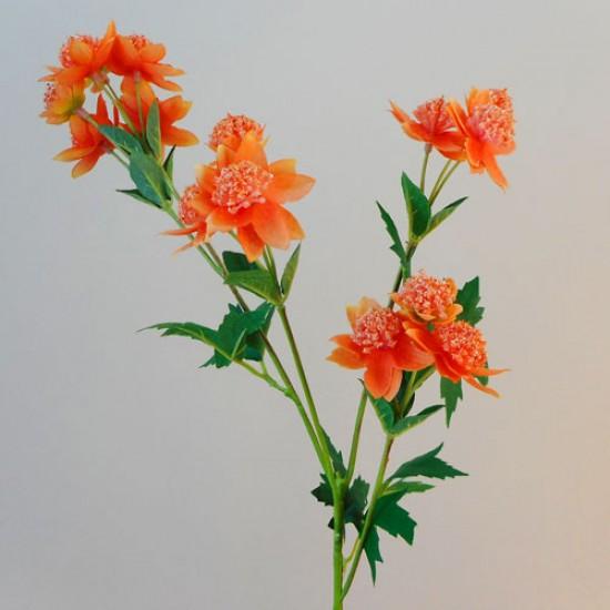 Carnival Astrantia Orange Artificial Flowers - A045 B2